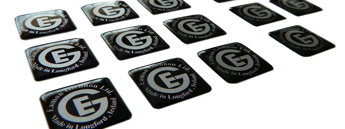 Crystal-clear, polyurethane dome labels