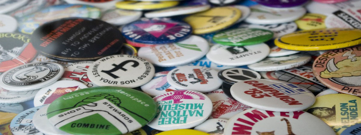 Badges are a great giveaway to promote your business, club or cause!